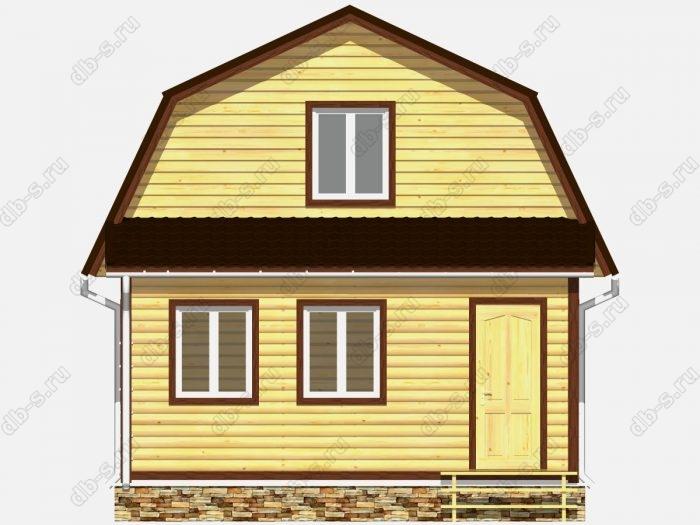 Фото деревянного дома из профилированного бруса под ключ 6 на 6