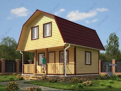 Дом из бруса 6х6 проект Д18