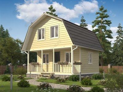 Каркасный дом 6х6 проект К18