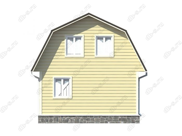 Проект каркасного дома площадью 54кв.м.