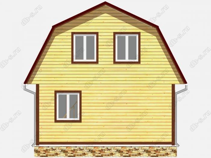 Проект дома из бруса площадью 54кв.м.