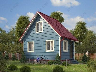 Каркасный дом 6х4 проект К19