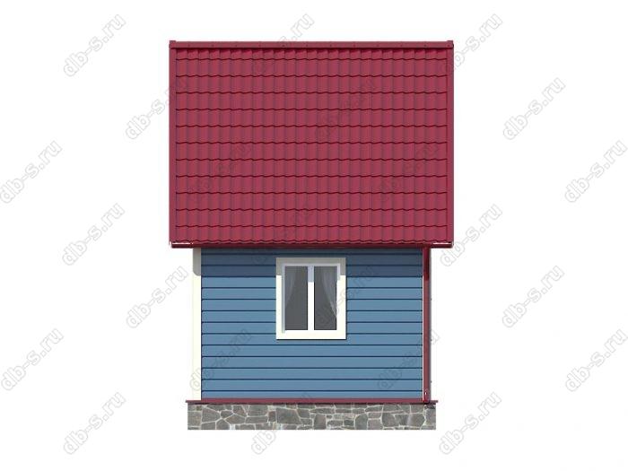 Каркасный дом 6х4 двухскатная крыша