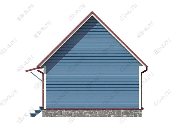 Проект каркасного дома площадью 43.25кв.м.