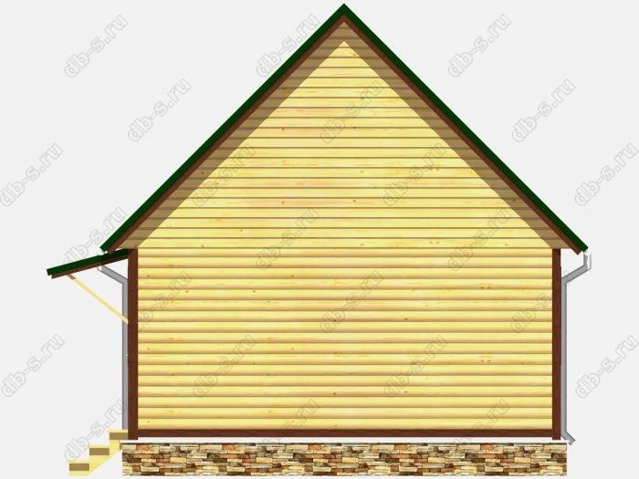 Проект дома из бруса площадью 43.25кв.м.