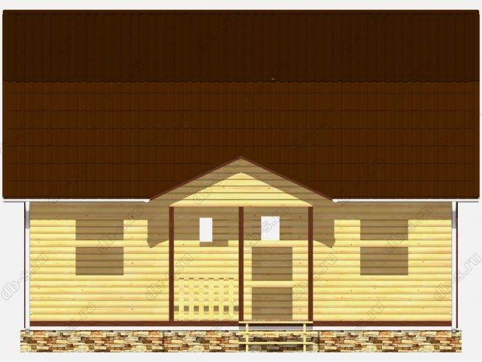 Сруб дома 9х7 терраса (веранда) ломаная крыша вальмовая крыша