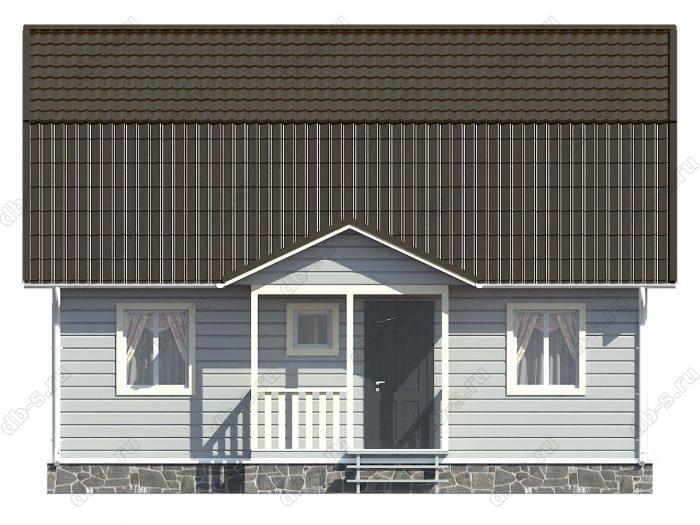 Каркасный дом 9х7 терраса (веранда) ломаная крыша вальмовая крыша