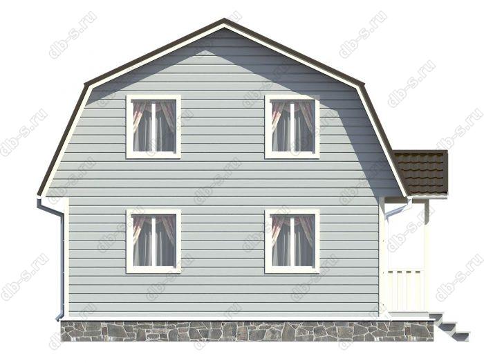 Проект каркасного дома площадью 117кв.м.