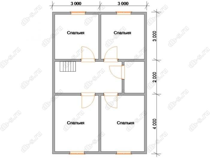 Дом 9 на 7 план мансардного этажа