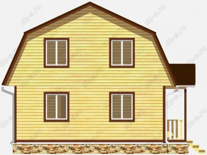 Фото деревянного дома из профилированного бруса под ключ 9 на 7