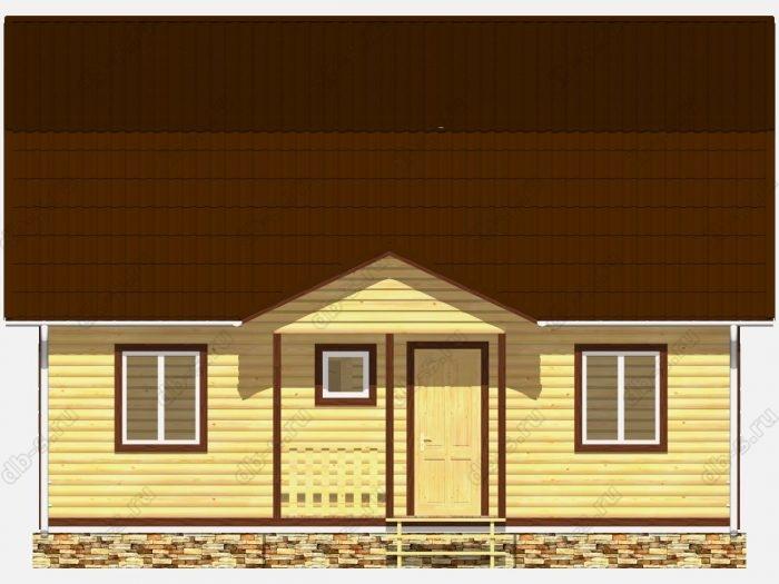Дом из бруса 9х7 терраса (веранда) ломаная крыша вальмовая крыша