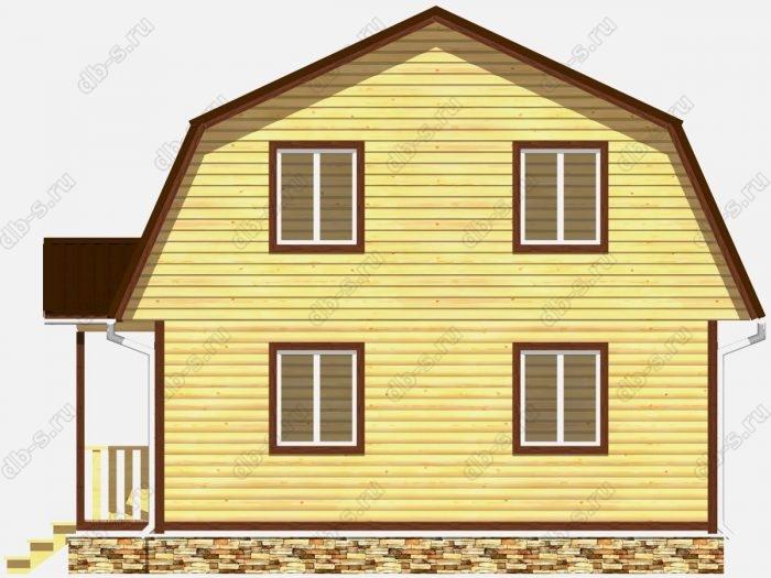 Проект дома из бруса площадью 117кв.м.