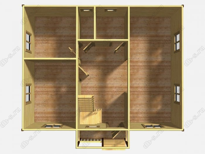 Проект дома для постоянного проживания 9 на 7