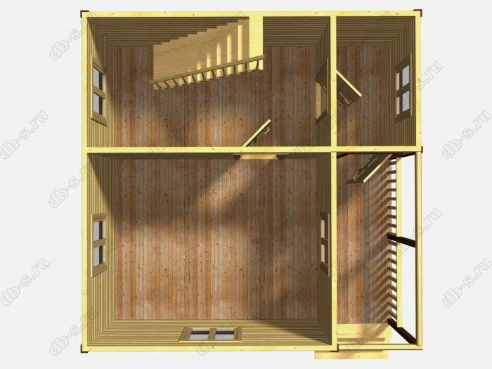 Проект дачного дома 6 на 6