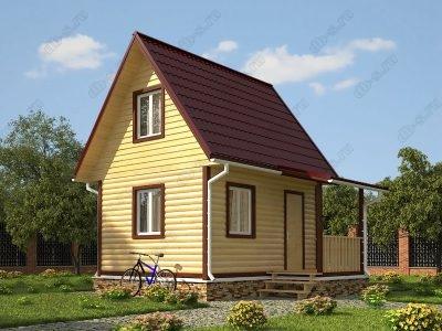 Дом из бруса 6х4 проект Д21