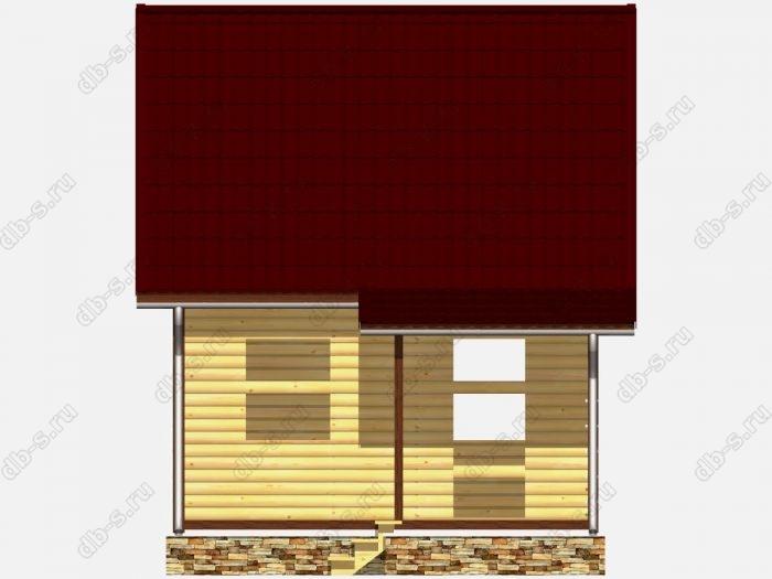 Сруб дома 6х4 двухскатная крыша