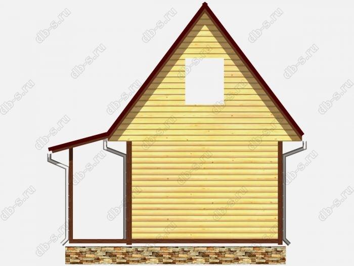 Проект сруба дома площадью 33.75кв.м.