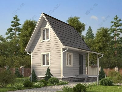 Каркасный дом 5.5х5 проект К21