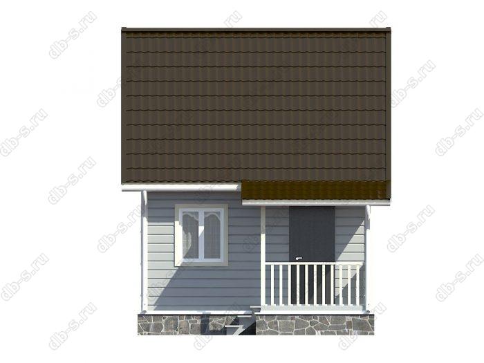 Каркасный дом 5.5х5 двухскатная крыша