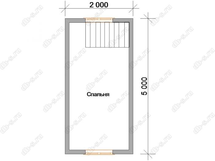 Дом 6 на 4 план мансардного этажа