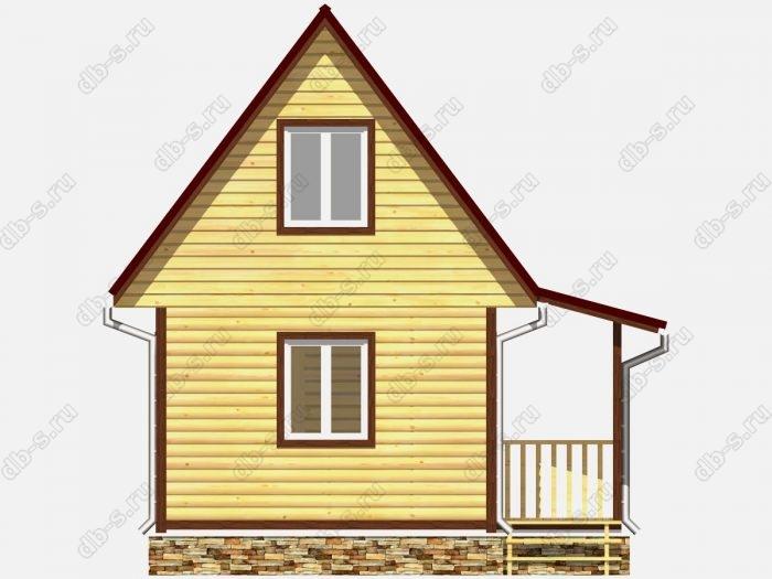 Фото деревянного дома из профилированного бруса под ключ 6 на 4