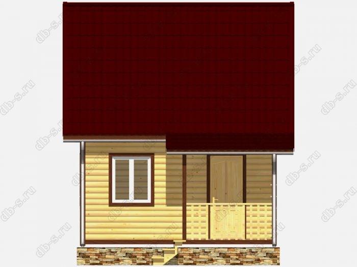 Дом из бруса 6х4 двухскатная крыша