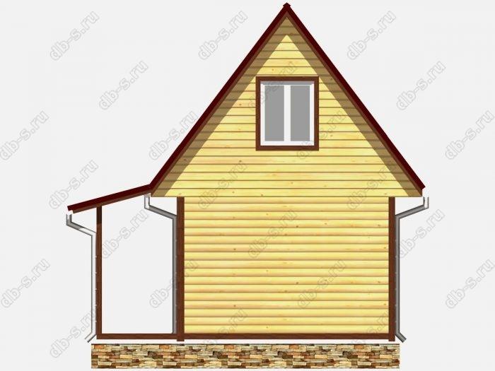 Проект дома из бруса площадью 33.75кв.м.