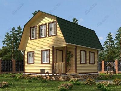 Дом из бруса 6х6 проект Д22