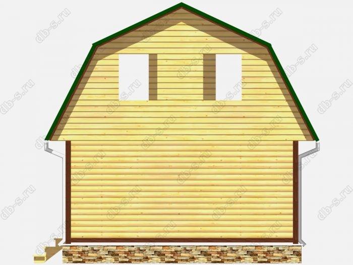 Проект сруба дома площадью 60.75кв.м.