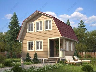 Каркасный дом 6х6 проект К22