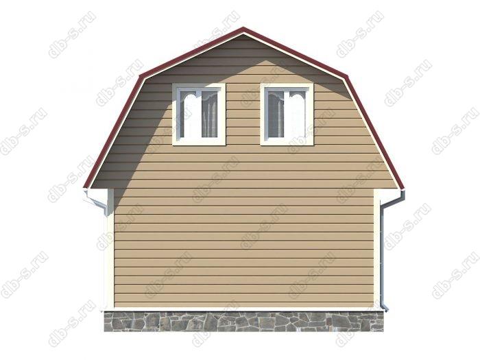 Проект каркасного дома площадью 60.75кв.м.