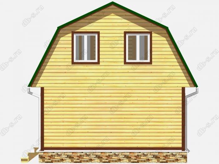Проект дома из бруса площадью 60.75кв.м.