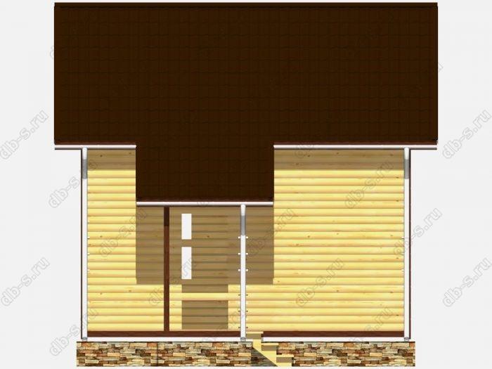 Сруб дома 6х6 двухскатная крыша