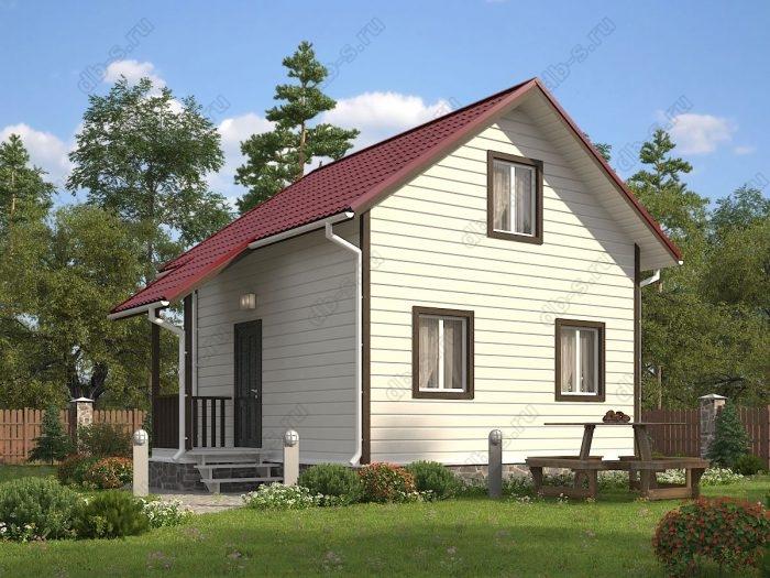 Двухэтажный проект 6 на 6 каркасный дом под ключ двухскатная крыша