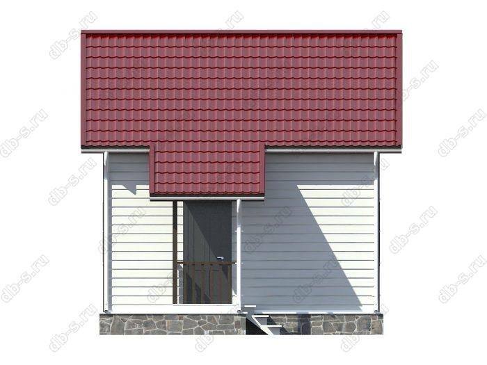 Каркасный дом 6х6 двухскатная крыша