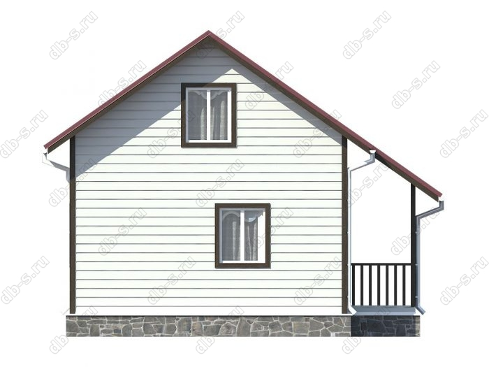 Проект каркасного дома площадью 72кв.м.