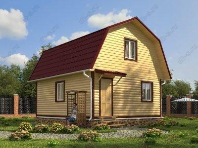 Дом из бруса 6х7 проект Д24