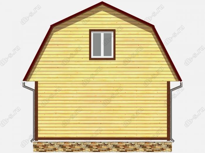 Проект дома из бруса площадью 73.5кв.м.