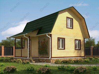 Дом из бруса 6х7,5 проект Д25