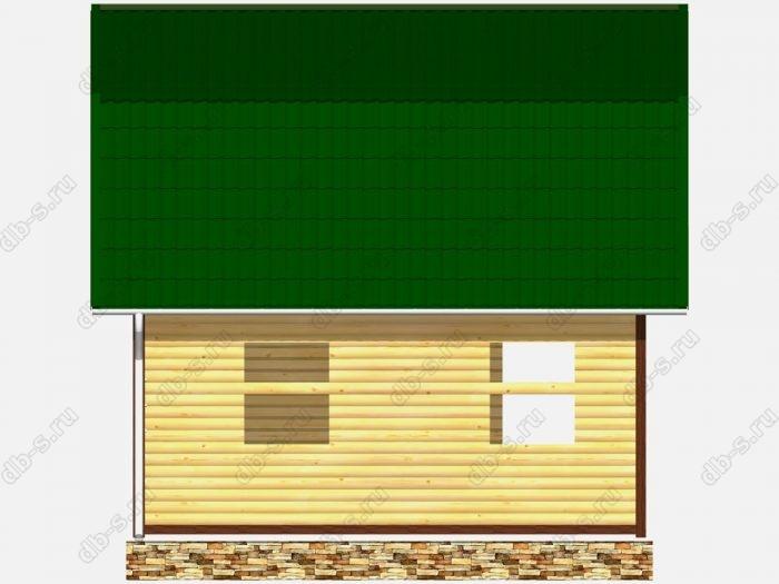Сруб дома 6х7.5 терраса (веранда) ломаная крыша вальмовая крыша