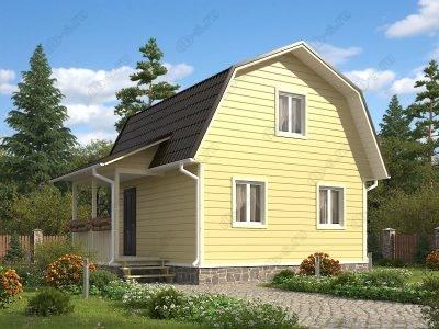Каркасный дом 6х7,5 проект К25