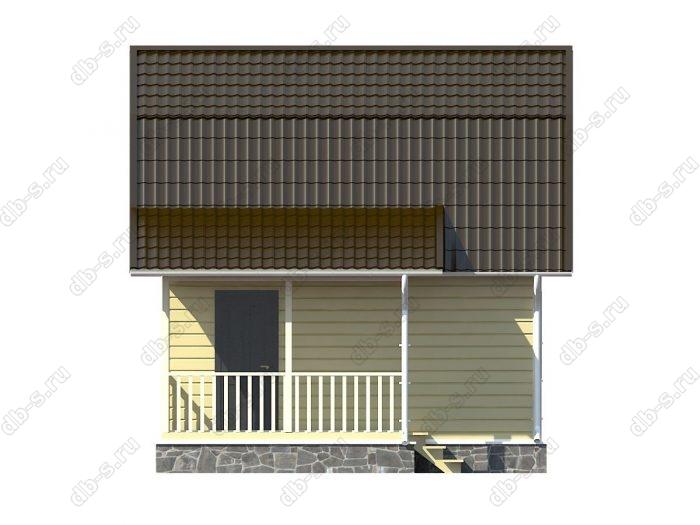Каркасный дом 6х7.5 терраса (веранда) ломаная крыша вальмовая крыша
