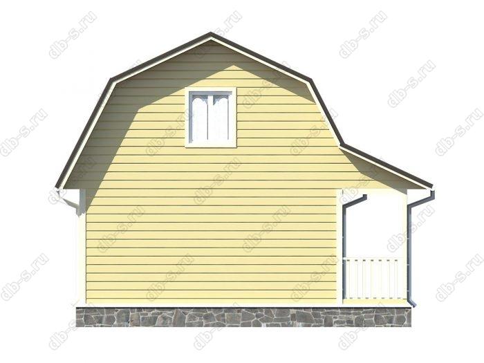 Проект каркасного дома площадью 63кв.м.