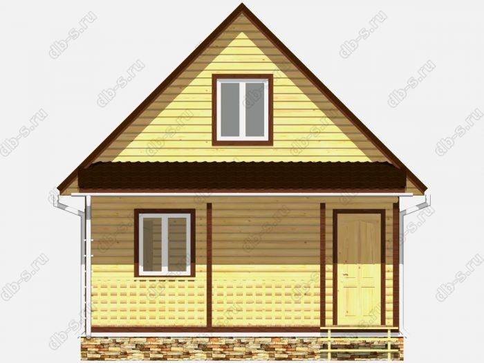 Фото деревянного дома из профилированного бруса под ключ 6 на 7.5