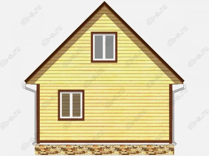 Проект дома из бруса площадью 60кв.м.