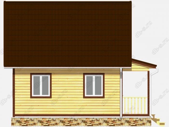 Строительство домов под ключ 6х7.5 из профилированного бруса