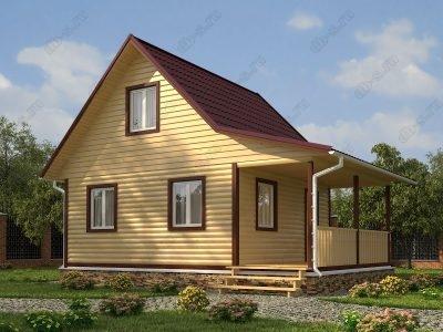 Дом из бруса 6х8 проект Д27