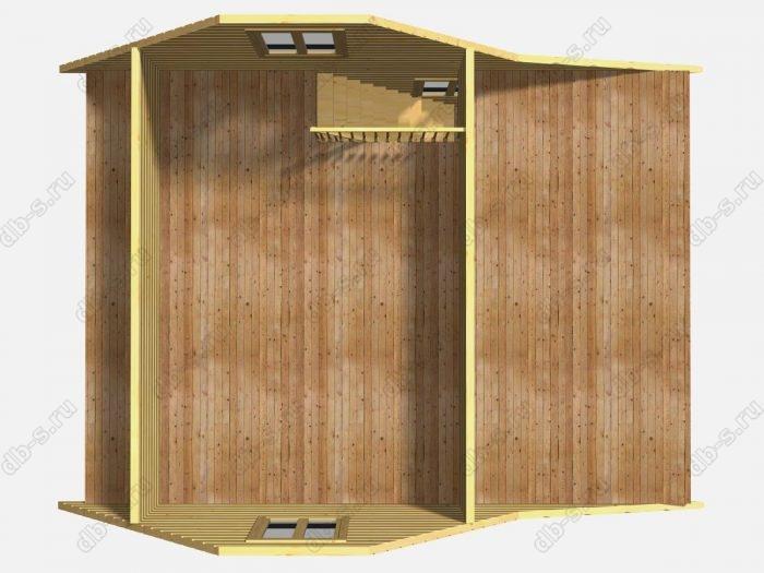 Деревянный сруб 6х8 под усадку
