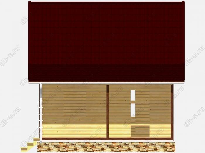 Сруб дома 6х8 терраса (веранда) двухскатная крыша
