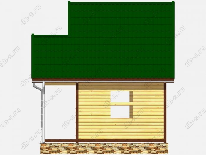 Сруб дома 5х4 двухскатная крыша